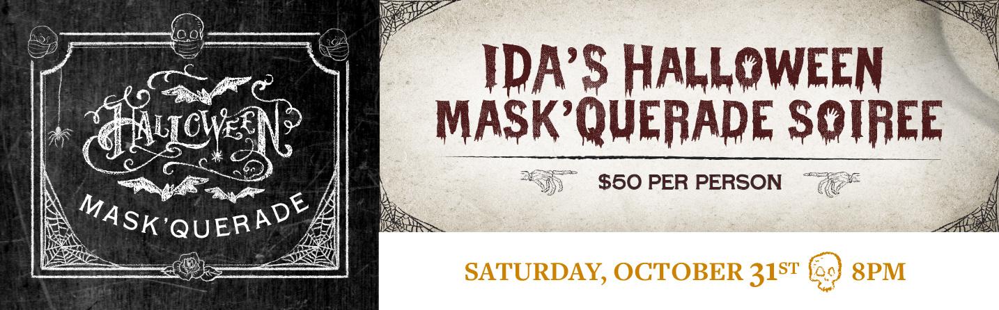 Ida Claire Halloween Mask'Querade