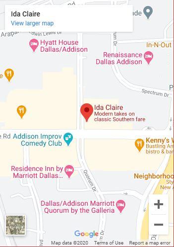Ida Claire Dallas Google Map mobile