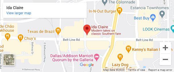 Ida Claire Dallas Google Map desktop