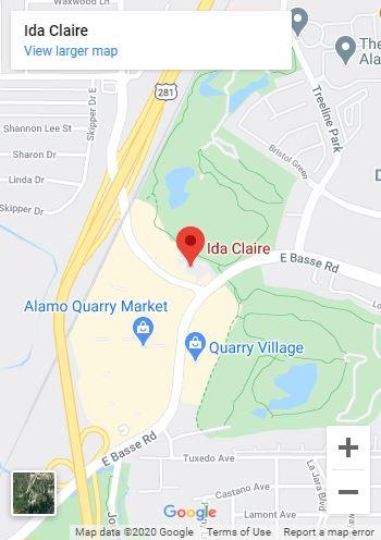 Ida Claire San Antonio Google Map mobile