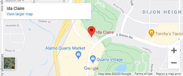 Ida Claire San Antonio Google Map desktop
